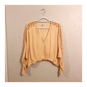 Free people oversized crop top size small